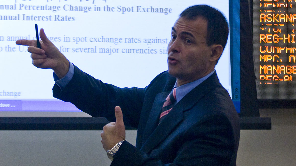 Bryant Finance Professor Hakan Saragalou