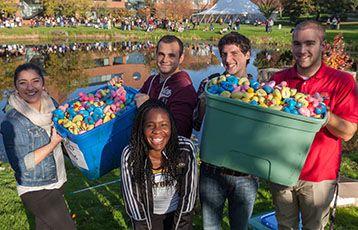 Annual Duck Race at Family and Friends Weekend at Bryant University