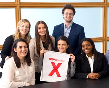 A group of students from the TEDxBryant committee